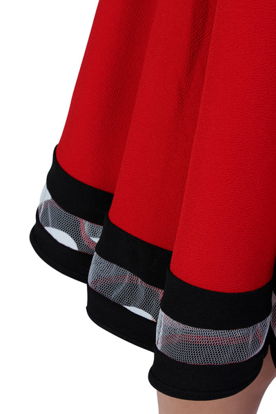 Plus Size Clothing for Women - Varsity Skirt - Red - Society+ - Society Plus - Buy Online Now! - 3