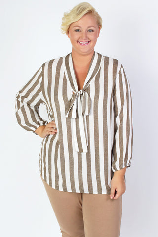 Plus Size Clothing for Women - Braelynn Bow Blouse - Society+ - Society Plus - Buy Online Now! - 1