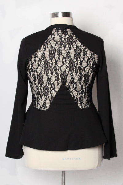 Plus Size Clothing for Women - Anastasia Lace Jacket - Society+ - Society Plus - Buy Online Now! - 3