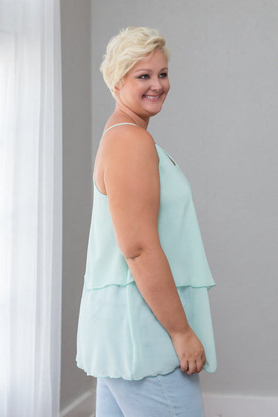 Plus Size Clothing for Women - Iyla Rose Chiffon Top - Spearmint - Society+ - Society Plus - Buy Online Now! - 3