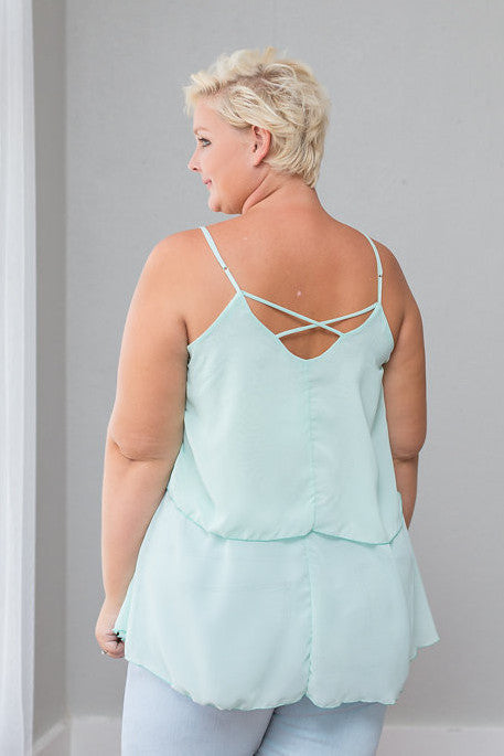 Plus Size Clothing for Women - Iyla Rose Chiffon Top - Spearmint - Society+ - Society Plus - Buy Online Now! - 4