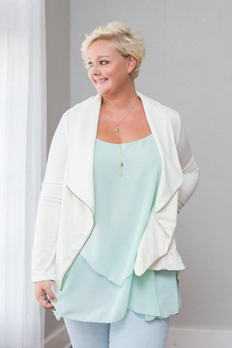 Plus Size Clothing for Women - Iyla Rose Chiffon Top - Spearmint - Society+ - Society Plus - Buy Online Now! - 1