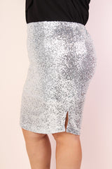 Broadway Sequin Pencil Skirt