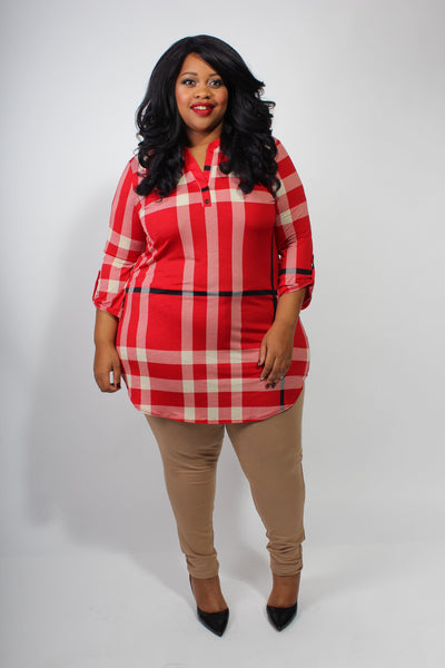 Plus Size Clothing for Women - Odessa Plaid Tunic - Society+ - Society Plus - Buy Online Now! - 2