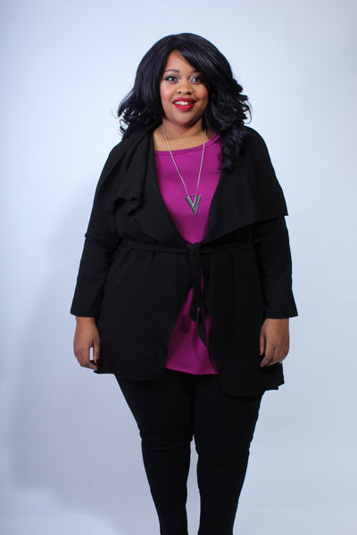 Plus Size Clothing for Women - Katherine 3/4 Sleeve Top - Magenta - Society+ - Society Plus - Buy Online Now! - 3