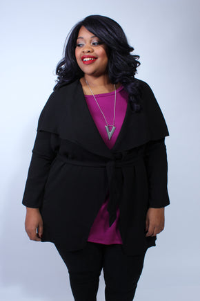 Plus Size Clothing for Women - Corinne Cardigan - Black - Society+ - Society Plus - Buy Online Now! - 1