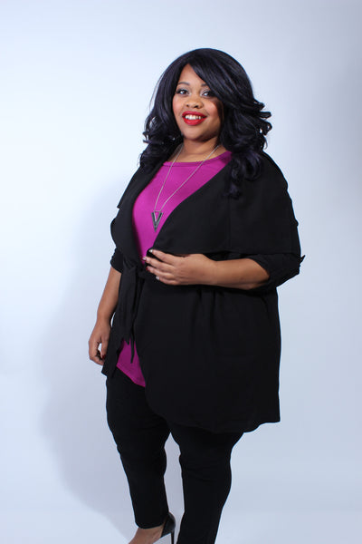 Plus Size Clothing for Women - Corinne Cardigan - Black - Society+ - Society Plus - Buy Online Now! - 3