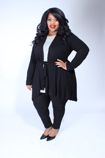 Plus Size Clothing for Women - Katherine 3/4 Sleeve Top - Heather Grey - Society+ - Society Plus - Buy Online Now! - 3