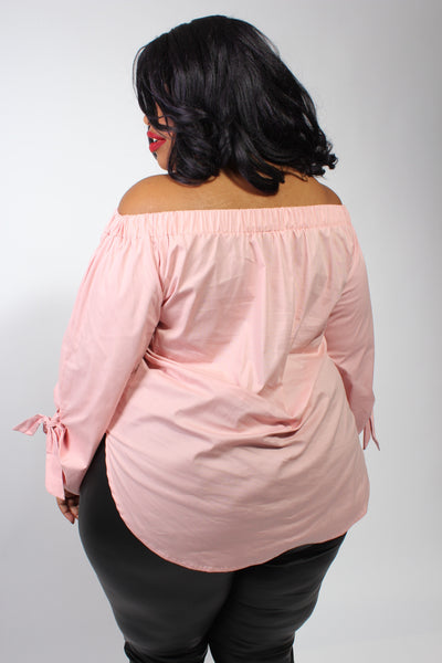 Plus Size Clothing for Women - Eva Off-The-Shoulder Top - Rose - Society+ - Society Plus - Buy Online Now! - 4