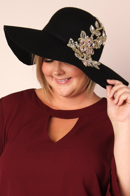 Allison Wool & Glam Oversized Hat