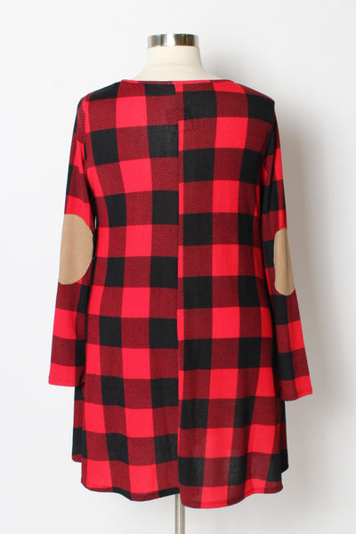 Plus Size Clothing for Women - Shianne Plaid Tunic Dress w/ Pockets - Society+ - Society Plus - Buy Online Now! - 3