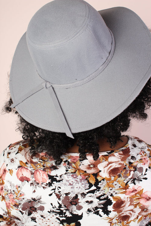 Floppy Felt Hat - Light Gray