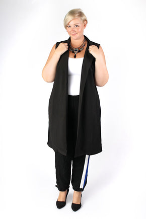 Plus Size Clothing for Women - Collared Maxi Vest - Society+ - Society Plus - Buy Online Now! - 1