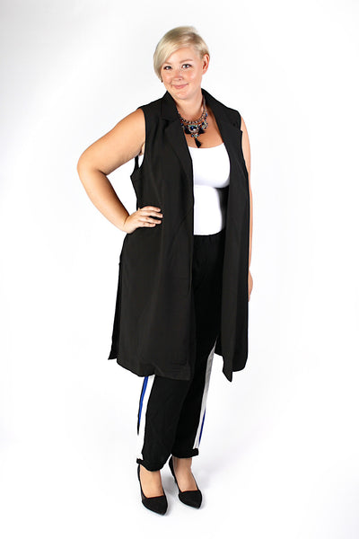 Plus Size Clothing for Women - Collared Maxi Vest - Society+ - Society Plus - Buy Online Now! - 2