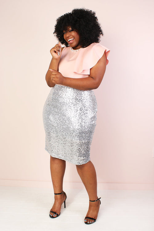 Broadway Stretch Sequin Pencil Skirt