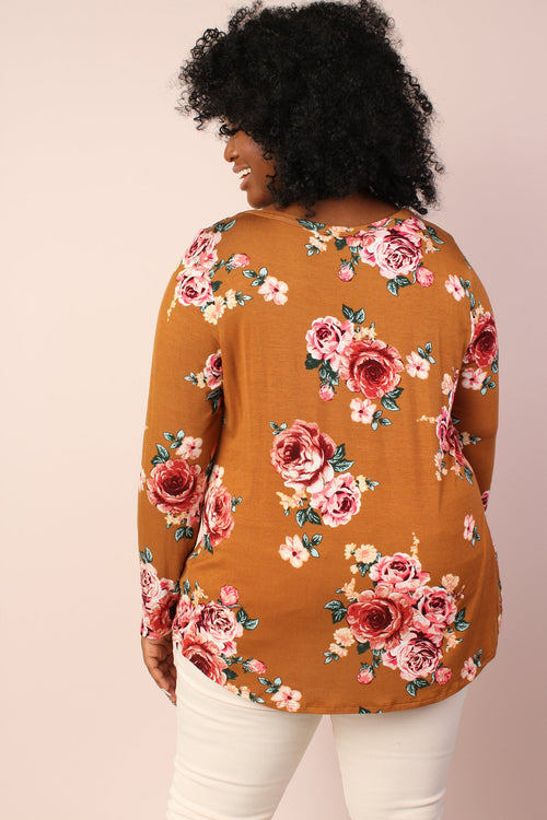 Claire Floral Tunic - Mustard