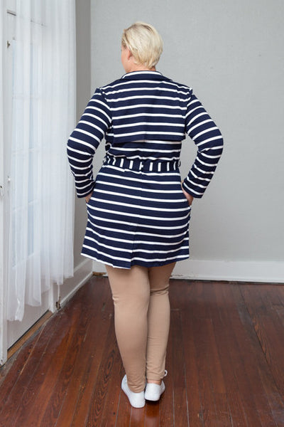 Plus Size Clothing for Women - Juliette Striped Jacket - Navy/Ivory - Society+ - Society Plus - Buy Online Now! - 2