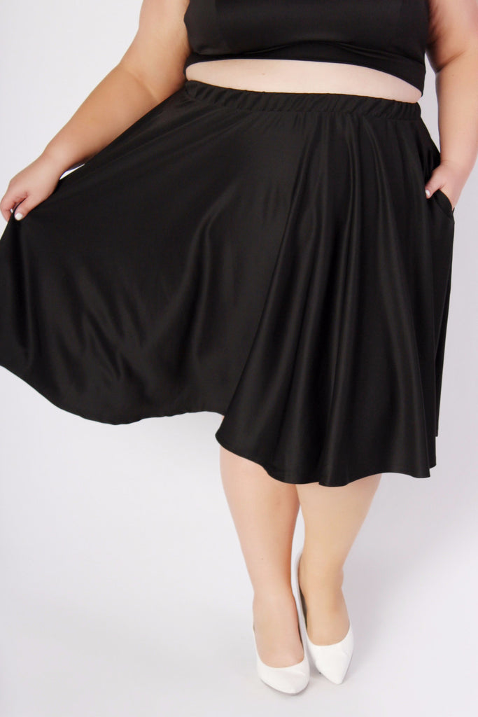 Plus Size Clothing for Women - J. Kane Black Skirt - Society+ - Society Plus - Buy Online Now! - 1