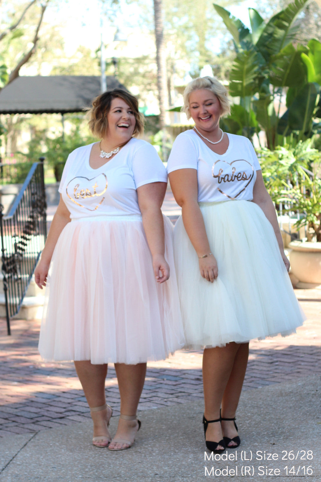Plus Size Clothing for Women - 'Babes' Bestie Graphic Tee - White - Society+ - Society Plus - Buy Online Now! - 2