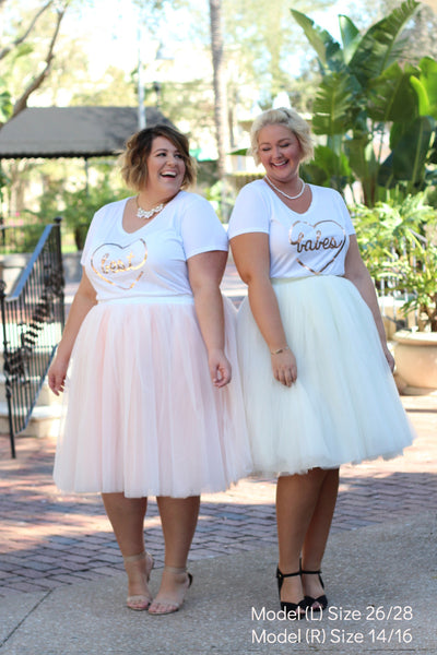 Plus Size Clothing for Women - 'Best' Bestie Graphic Tee - White - Society+ - Society Plus - Buy Online Now! - 2