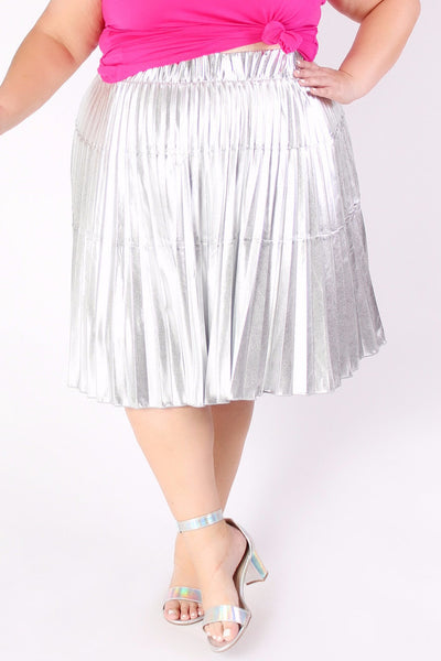 Plus Size Clothing for Women - Jessica Kane Silver Skirt - Society+ - Society Plus - Buy Online Now! - 3