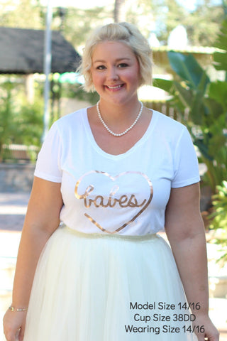 Plus Size Clothing for Women - 'Babes' Bestie Graphic Tee - White - Society+ - Society Plus - Buy Online Now! - 1