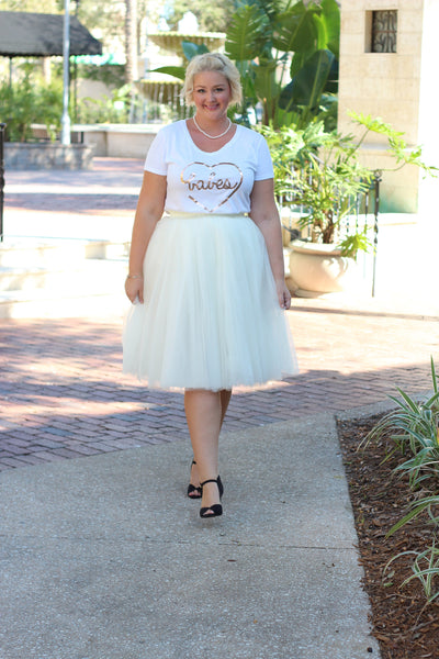 Plus Size Clothing for Women - 'Babes' Bestie Graphic Tee - White - Society+ - Society Plus - Buy Online Now! - 3
