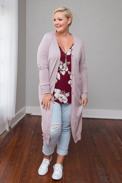 Plus Size Clothing for Women - Laney Longline Cardigan - Taupe - Society+ - Society Plus - Buy Online Now! - 1