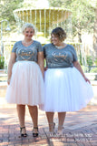 Plus Size Clothing for Women - 'Best' Bestie Graphic Tee - Grey - Society+ - Society Plus - Buy Online Now! - 2