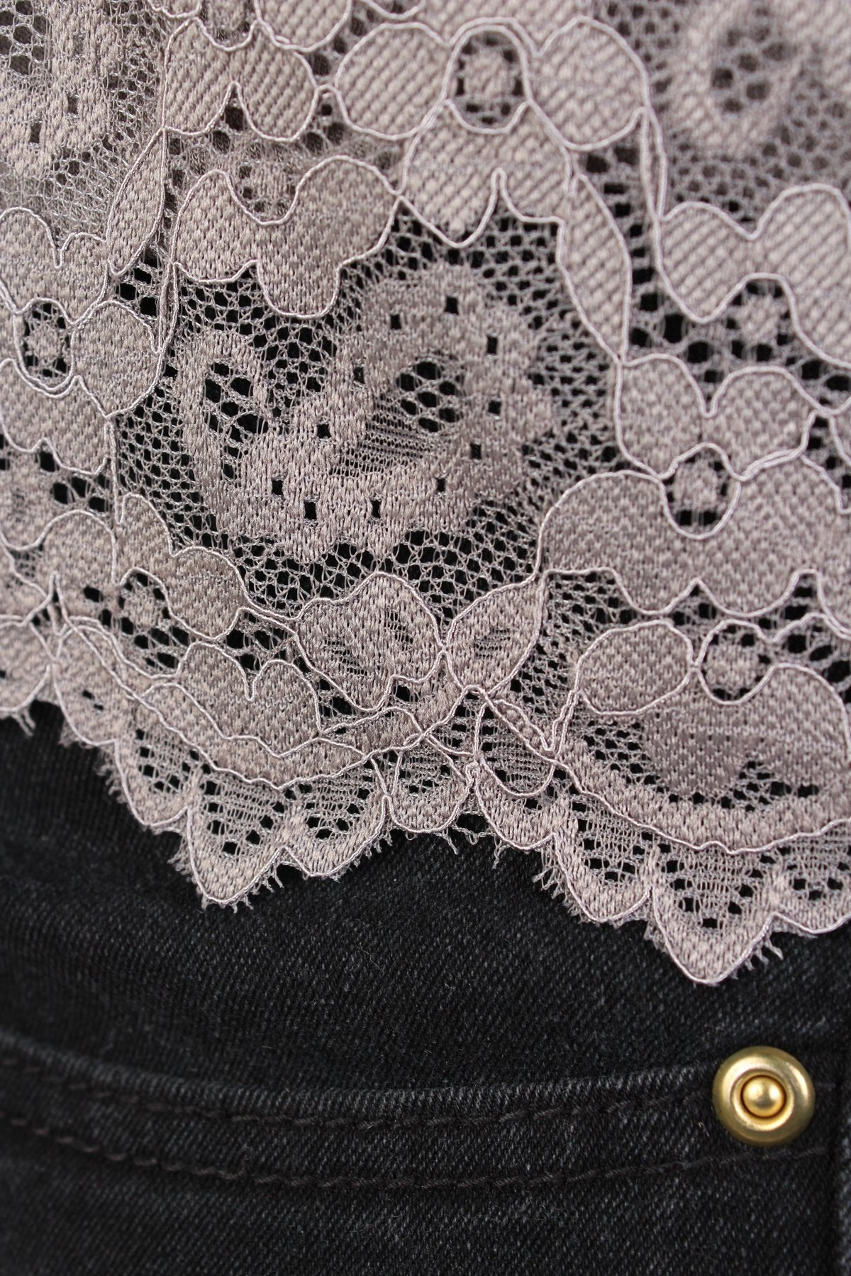 cd75ae2f15337a Lucy 2-in-1 Stretchy Lace Top - Dark Grey – Society Plus