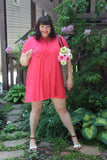 Plus Size Clothing for Women - Watermelon Bow Tie Dress - Society+ - Society Plus - Buy Online Now! - 4