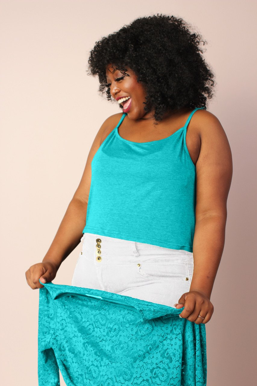 Lucy Lace Top - Teal