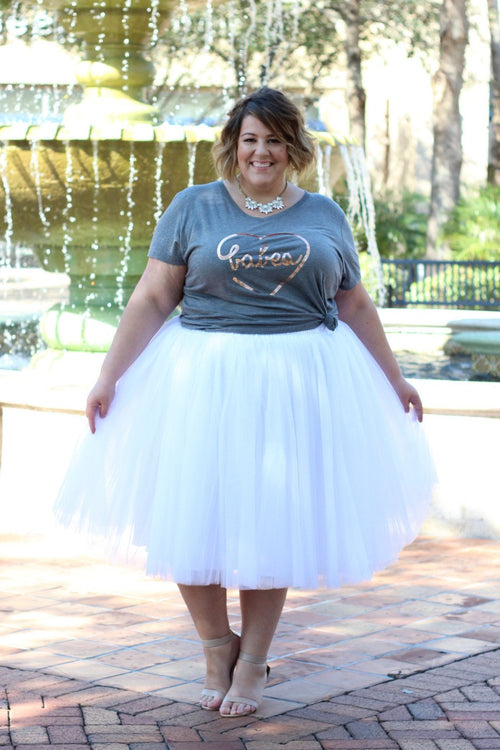 Plus Size Clothing for Women - Society+ Premium Tutu - White - Society+ - Society Plus - Buy Online Now! - 1