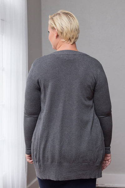 Plus Size Clothing for Women - Squeeze The Day Cardi - Grey - Society+ - Society Plus - Buy Online Now! - 2