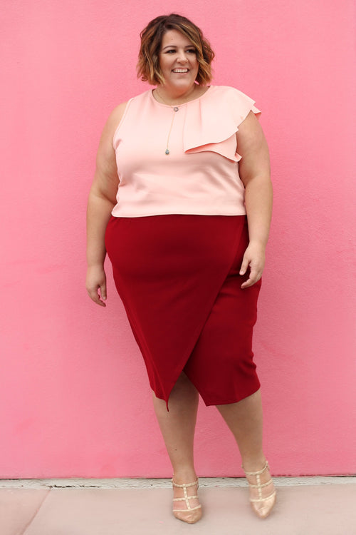 Elyse Wrap Pencil Skirt