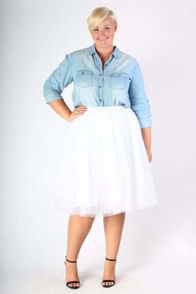 Plus Size Clothing for Women - Softest Chambray Top - Society+ - Society Plus - Buy Online Now! - 5