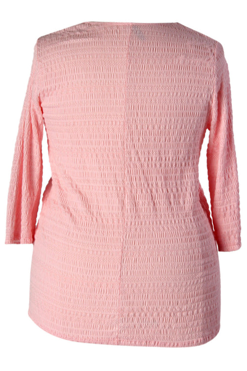 Tassled Long Sleeve Top - Pink