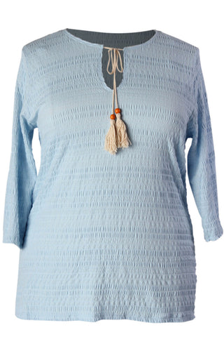 Tassled Baby Blue Top