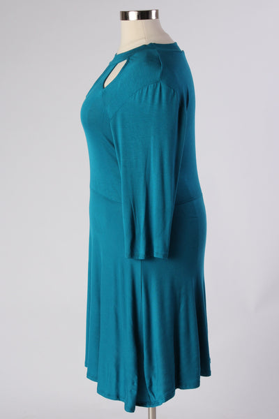 Plus Size Clothing for Women - Lady Boss Keyhole Dress - Turquoise - Society+ - Society Plus - Buy Online Now! - 2