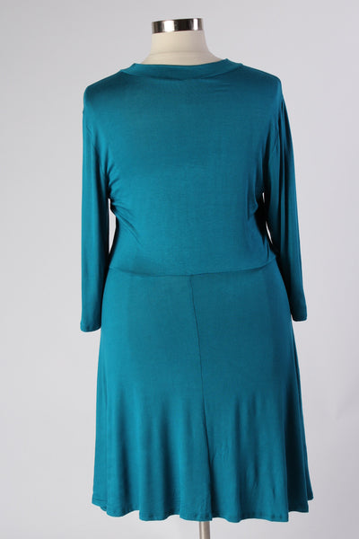 Plus Size Clothing for Women - Lady Boss Keyhole Dress - Turquoise - Society+ - Society Plus - Buy Online Now! - 3