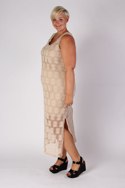 Plus Size Clothing for Women - Crochet Pattern Maxi Dress - Society+ - Society Plus - Buy Online Now! - 3