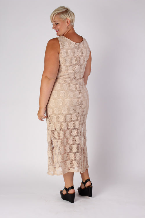 Plus Size Clothing for Women - Crochet Pattern Maxi Dress - Society+ - Society Plus - Buy Online Now! - 2