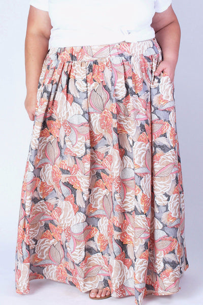 Plus Size Clothing for Women - Twirl Maxi Skirt with Pockets - Salmon - Society+ - Society Plus - Buy Online Now! - 2