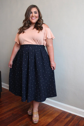 The Kate Midington - Navy Polka-Dot