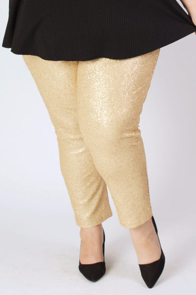 Plus Size Clothing for Women - Fancy Pants - Gold - Society+ - Society Plus - Buy Online Now! - 1