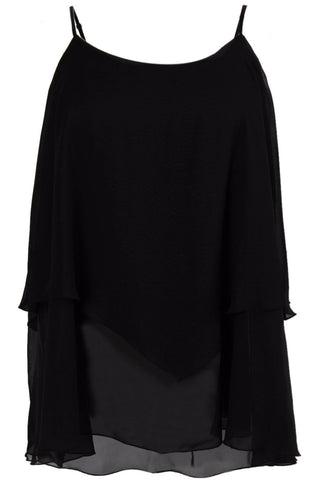 Miss Audrey Long Sleeve Top - Black/White
