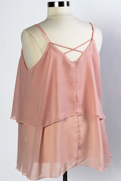 Plus Size Clothing for Women - Iyla Rose Chiffon Top - Dusty Rose - Society+ - Society Plus - Buy Online Now! - 3