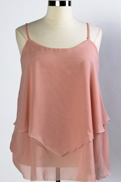 Plus Size Clothing for Women - Iyla Rose Chiffon Top - Dusty Rose - Society+ - Society Plus - Buy Online Now! - 2