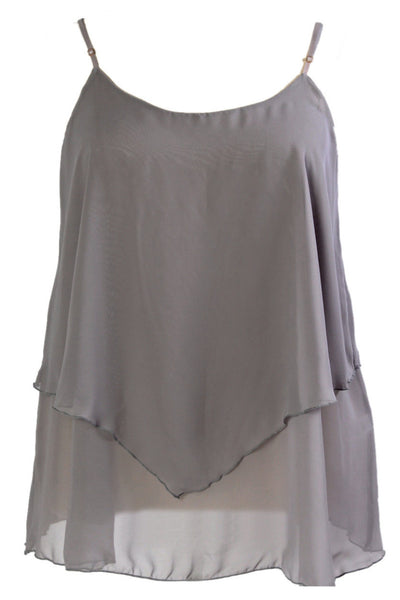 Iyla Rose Chiffon Top - Grey