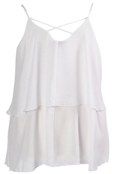 Iyla Rose Chiffon Top - White